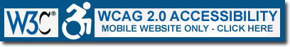 Our mobile website is WCAG 2.0 Accessibility Compliant for the visually impared